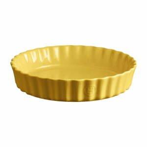 Žltá keramická koláčová forma Emile Henry, ⌀ 24 cm