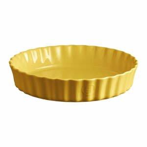 Žltá keramická koláčová forma Emile Henry, ⌀ 28 cm