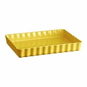 Žltá keramická koláčová forma Emile Henry, 24×34 cm