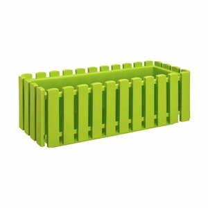 Hráškovozelený samozavlažovací črepník Gardenico Fency Smart System, dĺžka 50 cm