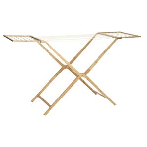 Rozkladací sušiak na oblečenie z bambusu Hübsch Bamboo