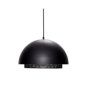 Čierne železné závesné svietidlo Hübsch Matteo