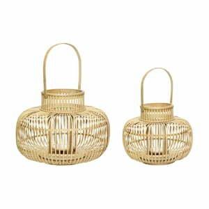 Súprava 2 bambusových lampášov Hübsch Bamboo