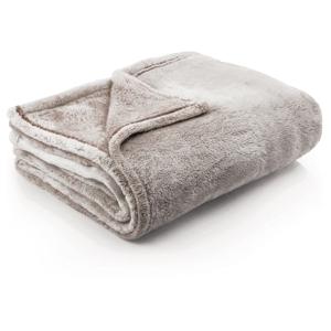 Svetlohnedá deka z mikrovlákna DecoKing Fluff Brown, 170 x 210 cm