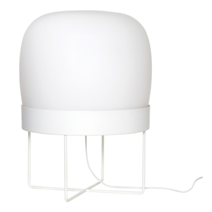 Biela voľne stojacia lampa Hübsch Karetto