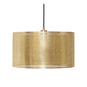Závesné svietidlo v zlatej farbe Hübsch Karimo