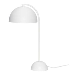 Biela kovová stolová lampa Hübsch Puro