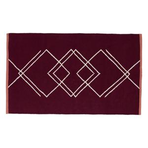 Tmavočervený koberec Hübsch Carisso, 90×150cm