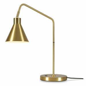 Stolová lampa v zlatej farbe Citylights Lyon, výška 55 cm