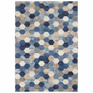 Modro-krémový koberec Elle Decor Arty Manosque, 120 × 170 cm