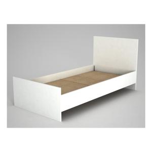 Biela jednolôžková posteľ Ratto Ernest, 195 × 95 cm