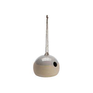 Závesná kameninová vtáčia búdka A Simple Mess Vigo Silver Cloud, ⌀ 18 cm