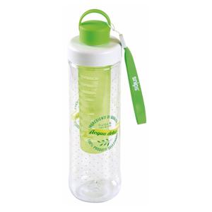 Zelená fľaša na vodu so sitkom Snips Infuser, 750ml