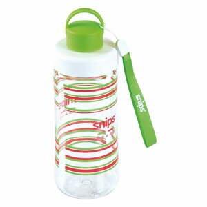 Zelená fľaša na vodu Snips Decorated, 500ml