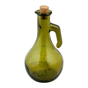 Zelená fľaša na ocot z recyklovaného skla Esschert Design Di Vino, 500 ml