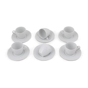 Sada 6 porcelánových hrnčekov s tanierikom Jeannette