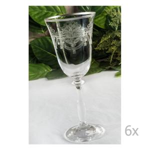 Sada 6 sklenených pohárov Asimina, 250 ml