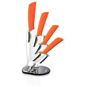 Set 5 keramických kuchynských nožov so stojanom Ypatios