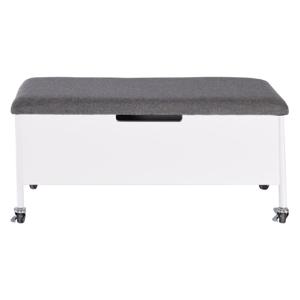 Biela úložná lavica na kolieskach RGE Sture, 90 x 40 cm