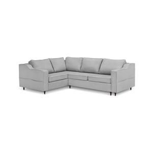 Sivá päťmiestna rozkladacia pohovka s úložným priestorom Mazzini Sofas Narcisse, ľavý roh
