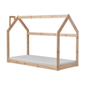 Detská drevená posteľ v tvare domčeka Pinio House, 200 × 90 cm