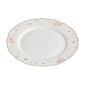 Biely porcelánový servírovací tanier Brandani Nonna Rosa