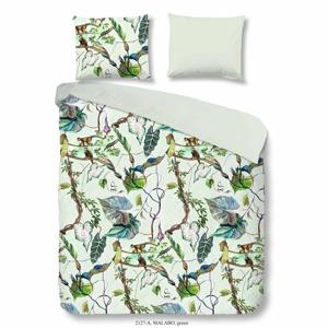 Bavlnené obliečky na jednolôžko Good Morning Malago Green, 140×200 cm