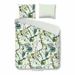 Bavlnené obliečky na dvojlôžko Good Morning Malago Green, 200×200 cm