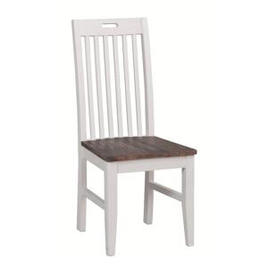 Biela borovicová jedálenská stolička Rowico Nottingham