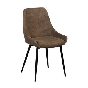 Hnedá polstrovaná jedálenská stolička Rowico Sierra