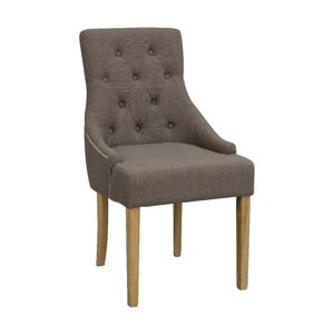 Hnedá polstrovaná jedálenská stolička z brezy Rowico Stella