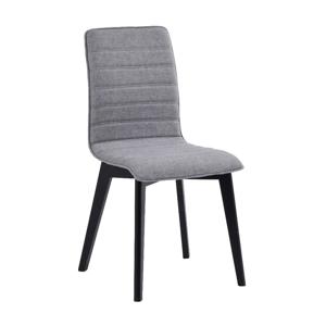 Sivá jedálenská stolička s čiernymi nohami Rowico Grace