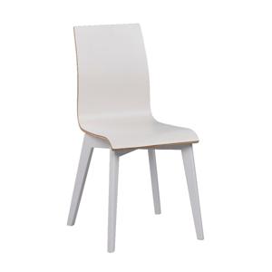 Biela jedálenská stolička s bielymi nohami Rowico Grace