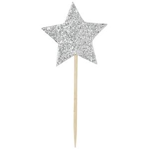 Sada 12 zapichovacích dekorácií na tortu Miss Étoile Star