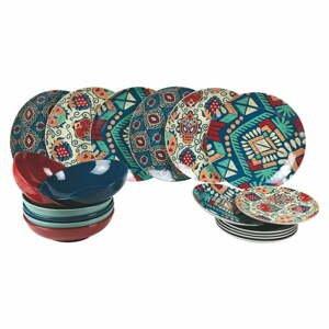 18-dielna súprava farebného riadu z porcelánu a kameniny Villa d'Este Mon Afrique