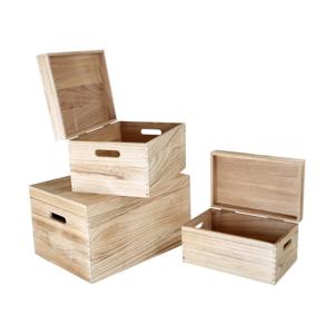 Sada 3 drevených truhiel Legler Trunk