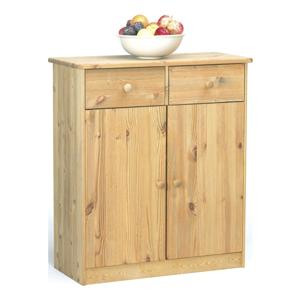 Skriňa s 2 zásuvkami z borovicového dreva Steens Mario, výška 89,1 cm