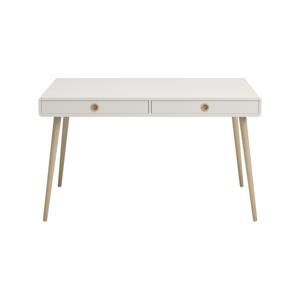 Krémovobiely písací stôl Steens Soft Line, šírka 130,1 cm