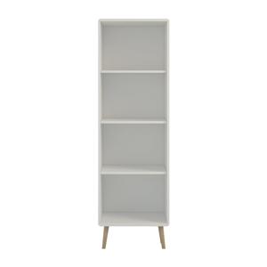 Krémovobiela knižnica Steens Soft Line, 166 × 49 cm