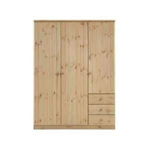 Svetlohnedá šatníková skriňa z borovicového dreva Steens Ribe, 202 × 150,5 cm