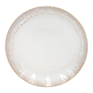 Biely dezertný tanier z kameniny Casafina Taormina, ⌀ 22 cm