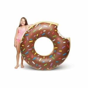 Hnedý nafukovací kruh v tvare donutu Big Mouth Inc.