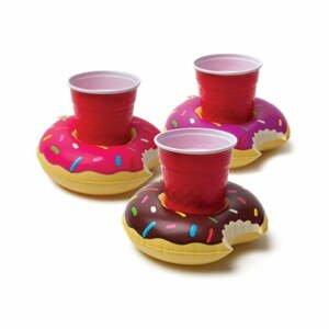 Súprava 3 nafukovacích kruhov na nápoje v tvare donutov Big Mouth Inc. Birds