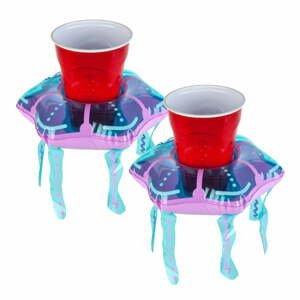 Sada 2 nafukovacích kruhov na nápoje v tvare medúz Big Mouth Inc.