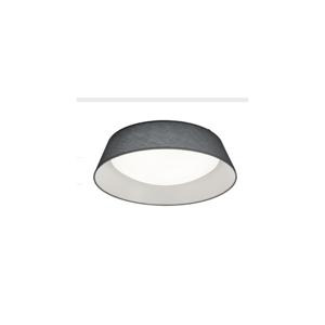 Čierne stropné LED svietidlo Trio Ponts, priemer 45 cm