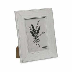 Drevený rámik na fotografiu Versa Madera Blanco, 13 × 18 cm