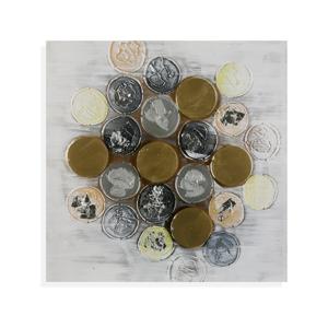 Obraz na plátne Versa Monedas, 120 × 60 cm