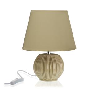 Béžová stolová keramická lampa Versa