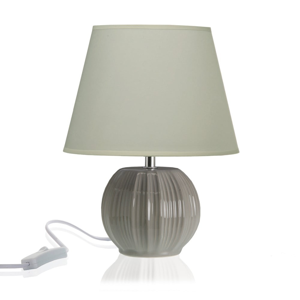 Svetlosivá stolová keramická lampa Versa