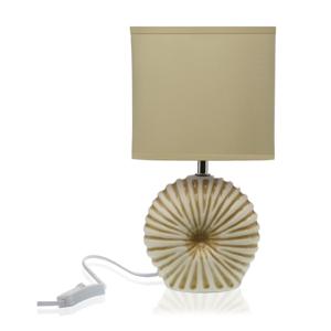 Béžová stolová keramická lampa Versa Thomas
